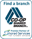 Find a branch: Co-Op Shared Branch - Premier Partner of Shared Services for Credit Unions logo