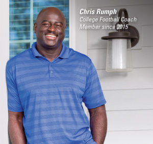 Chris Rumph - College Footbal Coach; Member since 2015