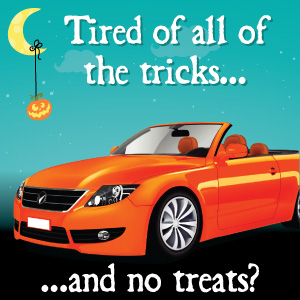 Tired of all of the tricks...and no treats?