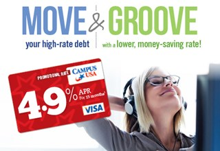 Move your high-rate debt and Groove with a lower, money-saving rate! 4.9% APR for 15 months (1)