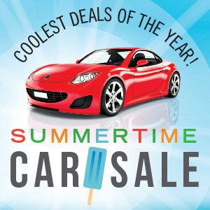 Coolest deals of the year! Summertime car sale